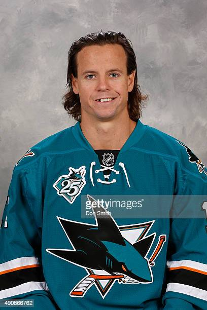 John McCarthy of the San Jose Sharks poses for his official headshot for the 201516 season on September 17 2015 at Sharks Ice in San Jose California