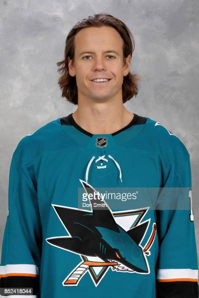 John McCarthy of the San Jose Sharks poses for his official headshot for the 201718 season on September 14 2017 at Sharks Ice in San Jose California