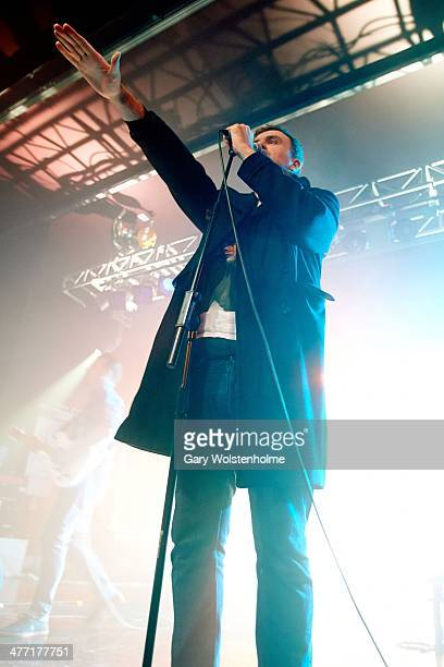 John McClure of Reverend And the Makers performs on stage at O2 Academy on March 7 2014 in Sheffield United Kingdom