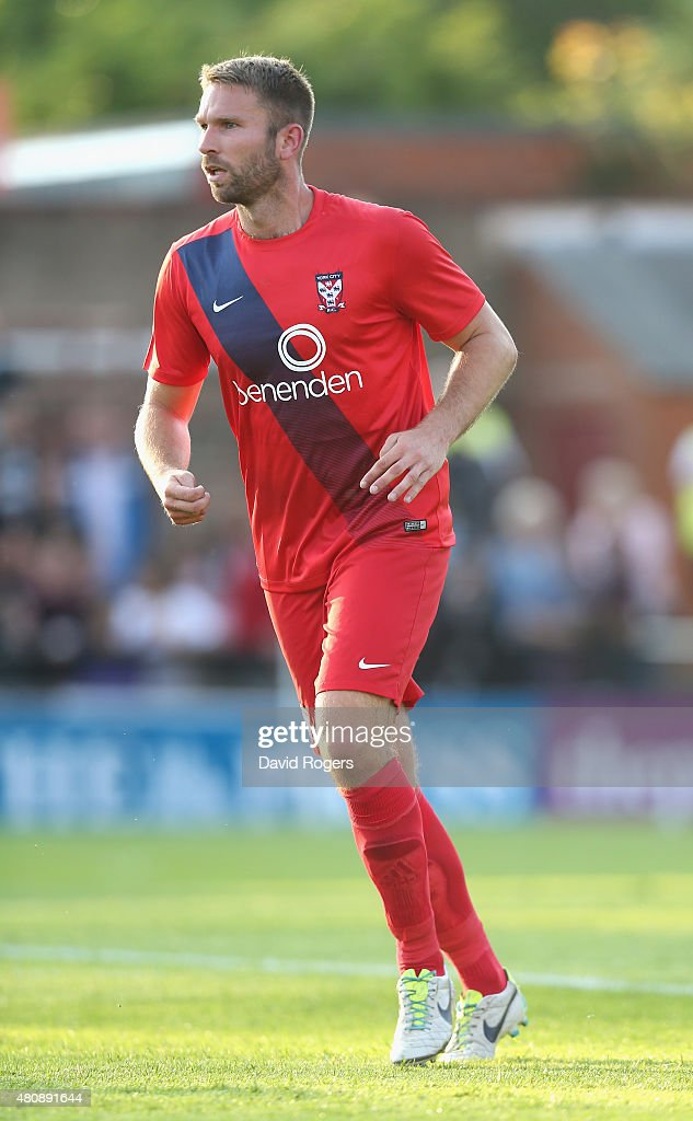 John McCombe of York City looks on during the pre season friendly match between York City and Leeds United at Bootham Crescent on July 15, 2015 in York, England.