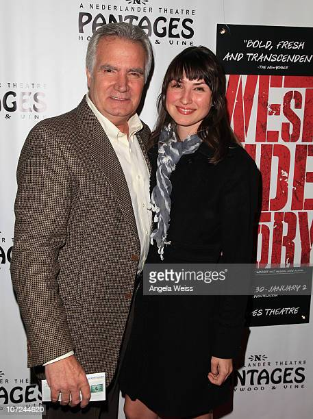John McCook and guest attend the opening night of 'West Side Story' at the Pantages Theatre on December 1 2010 in Hollywood California