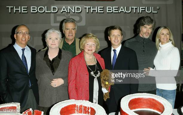 John McCook Susan Flannery Ronn Moss and Katherine Kelly Lang with Bill Bell Lee Phillip Bell and Bradley Bell
