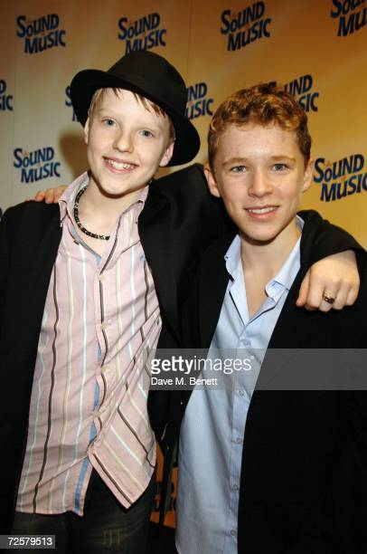 John McCrea and Jack Montgomery attend the after party following the press night of 'The Sound Of Music' at Billingsgate Market on November 15 2006...
