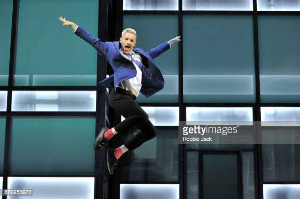 John McCrea as Jamie New in Tom MacRae's Everybody's Talking About Jamie directed by Jonathan Butterell at the Apollo Theatre on November 17 2017 in...