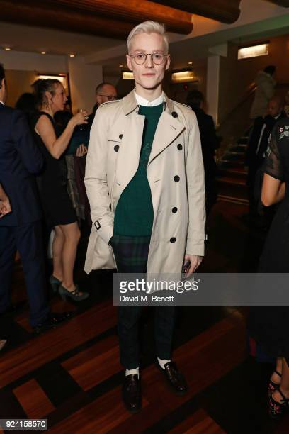 John McCrea attends the 18th Annual WhatsOnStage Awards at the Prince Of Wales Theatre on February 25 2018 in London England