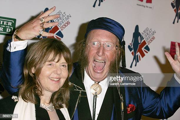 John McCririck and wife Jenny take part in the grand final of Miss Great Britain 2006 at the Grosvenor House Hotel on February 25, 2006 in London,...