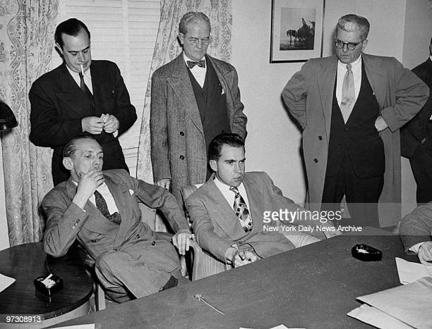 John McDowell Rep Richard Nixon Chief Investigator for House on UnAmerican Activities Robert E Stripling US Assistant Attorney General F X McCooey...