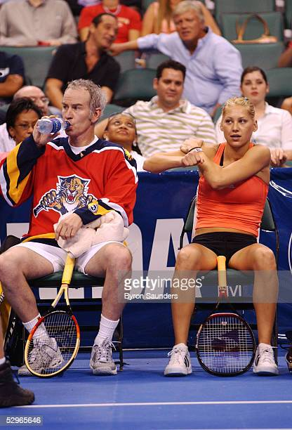 John McEnroe and Anna Kournikova participate in the 2005 MercedesBenz Classic at The Office Depot Center May 21 2005 in Sunrise Florida