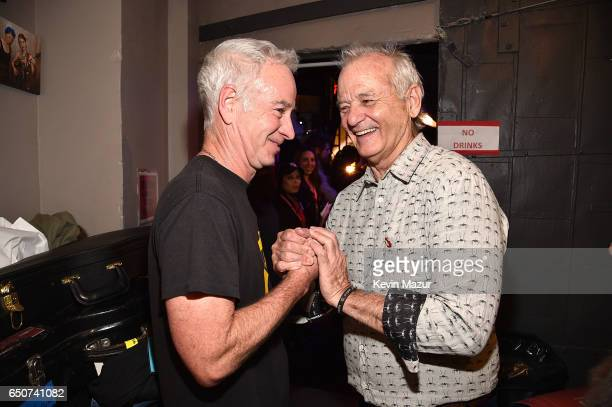 John McEnroe and Bill Murray backstage during 'Love Rocks NYC A Change is Gonna Come Celebrating Songs of Peace Love and Hope' A Benefit Concert for...