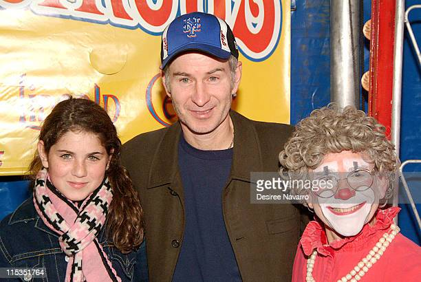 John McEnroe and daughter Emily with Grandma the Clown