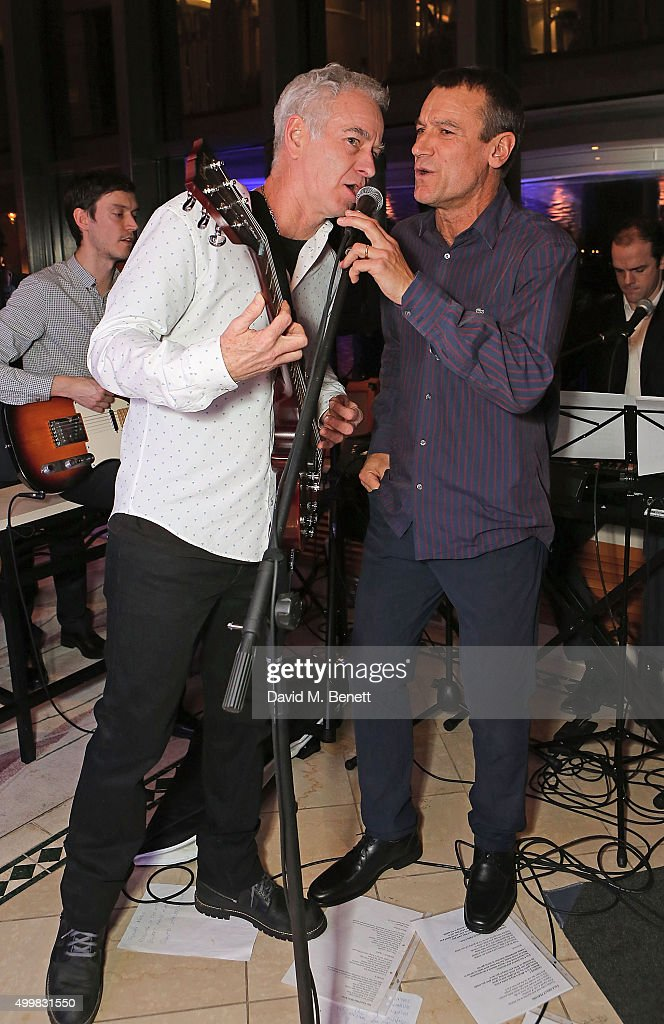 John McEnroe and Mats Wilander at the Champions Tennis players' party at Jumeirah Carlton Tower on December 3, 2015 in London, England.