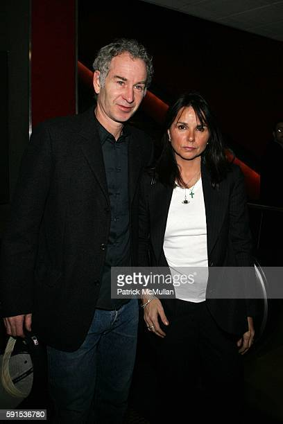 John McEnroe and Patty Smith attend Private Screening of Syriana at Cinema 123 Followed by Dinner at the Home of Steven and Heather Mnuchin at Cinema...