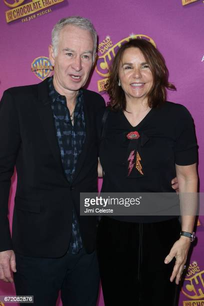 John McEnroe and Patty Smyth attend the 'Charlie And The Chocolate Factory' Broadway opening night at at LuntFontanne Theatre on April 23 2017 in New...