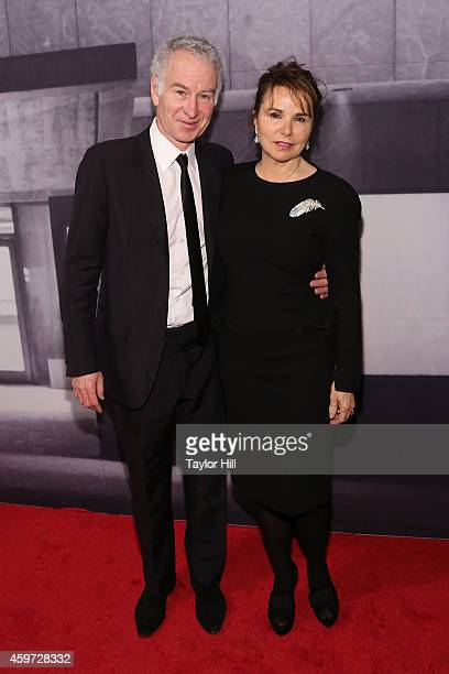 John McEnroe and Patty Smyth attend The Whitney Museum Of American Art's 2014 Gala Studio Party at The Whitney Museum of American Art on November 19...