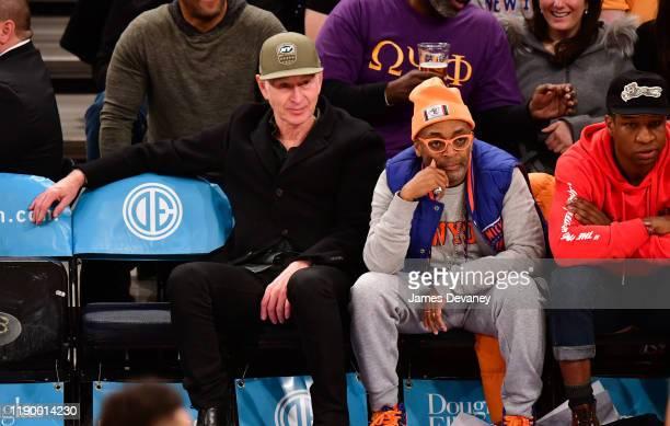 John McEnroe and Spike Lee attend Milwaukee Bucks v New York Knicks game at Madison Square Garden on December 21 2019 in New York City