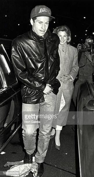 John McEnroe and Tatum O'Neal during Eric Clapton's Concert After Party April 27 1987 at China Club in New York City New York United States
