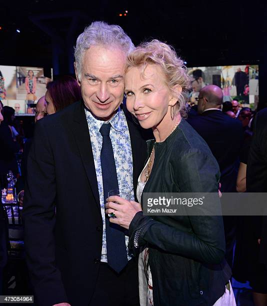John McEnroe and Trudie Styler attend The Robin Hood Foundation's 2015 Benefit at Jacob Javitz Center on May 12 2015 in New York City