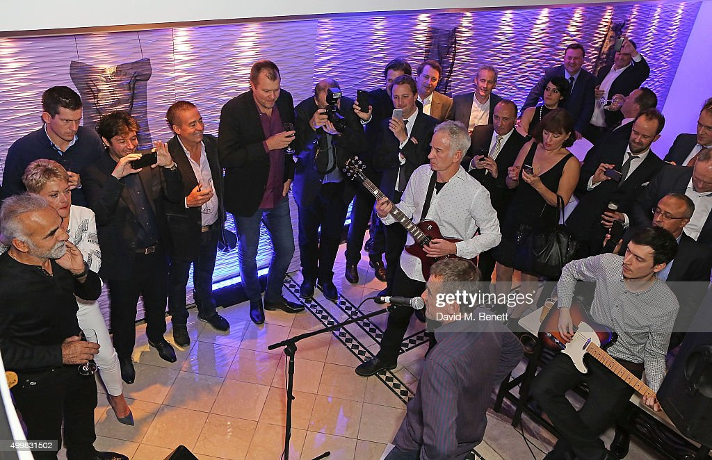 John McEnroe at the Champions Tennis players' party at Jumeirah Carlton Tower on December 3, 2015 in London, England.