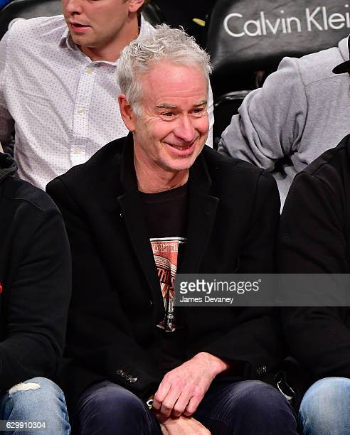 John McEnroe attends Brooklyn Nets vs Los Angeles Lakers game at Barclays Center on December 14 2016 in New York City