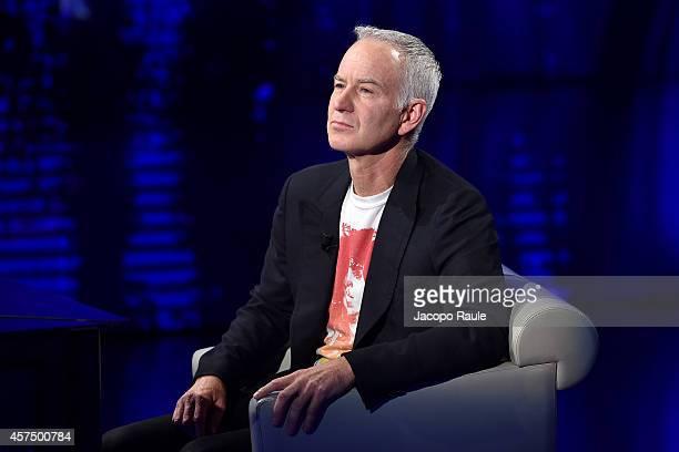 John McEnroe attends 'Che Tempo Che Fa' Italian Tv Show on October 16 2014 in Milan Italy