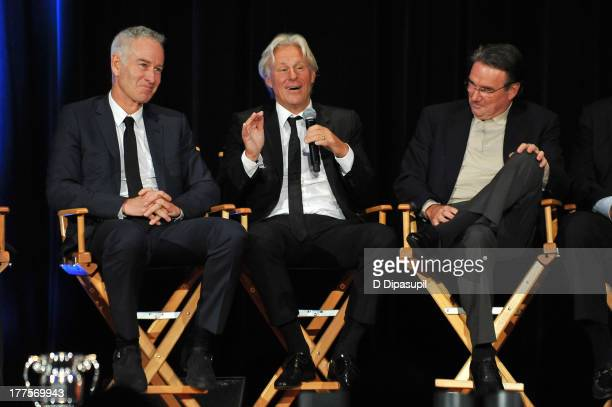 John McEnroe Bjorn Borg and Jimmy Connors attend the ATP Heritage Celebration at The Waldorf=Astoria on August 23 2013 in New York City