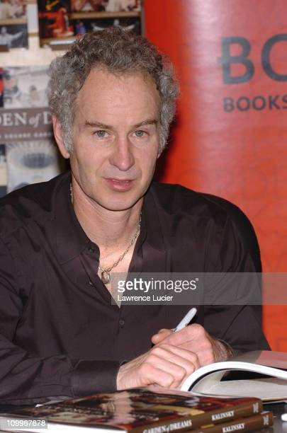 John McEnroe during John McEnroe Signs His Book You Cannot Be Serious at Borders in New York City at Borders Columbus Circle in New York City, New...
