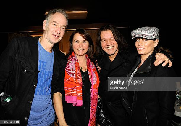 John McEnroe Patty Smyth Eddie Van Halen and Janie Van Halen at Cafe Wha on January 5 2012 in New York City Van Halen announce their 2012 North...