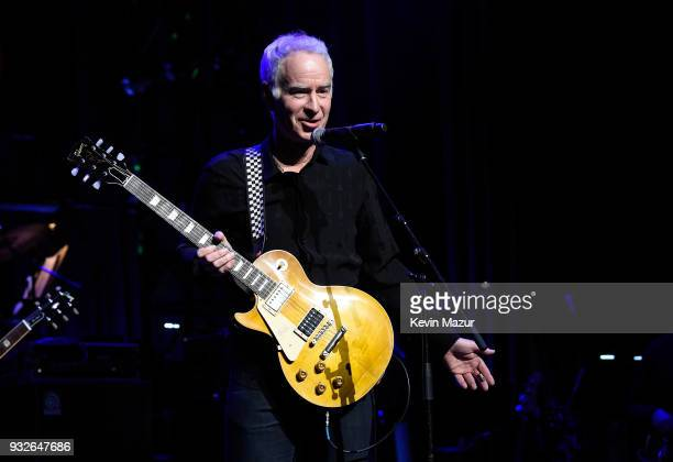 John McEnroe performs onstage at the Second Annual LOVE ROCKS NYC A Benefit Concert for God's Love We Deliver at Beacon Theatre on March 15 2018 in...