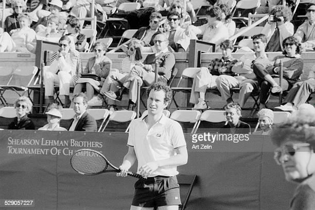 John McEnroe playing in The Shearson Lehman Tournament circa 1970 New York