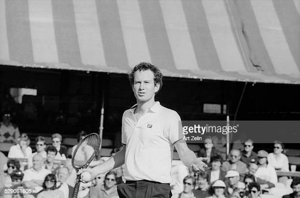 John McEnroe playing tennis circa 1970 New York