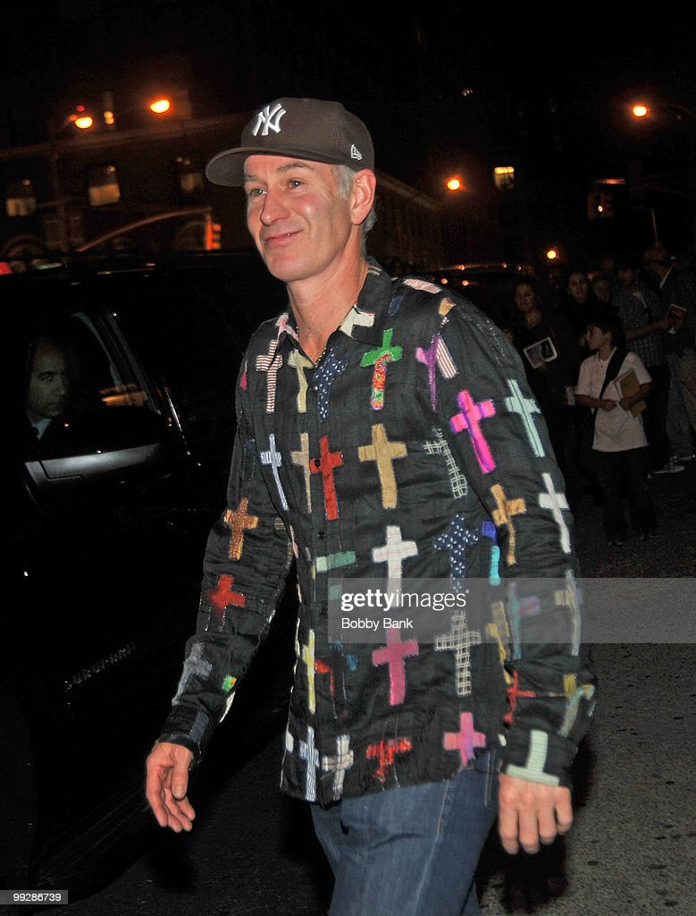 John McEnroe seen leaving the Almay Concert to celebrate the Rainforest Fund's 21st birthday at Carnegie Hall in Manhattan on May 13, 2010 in New York City.