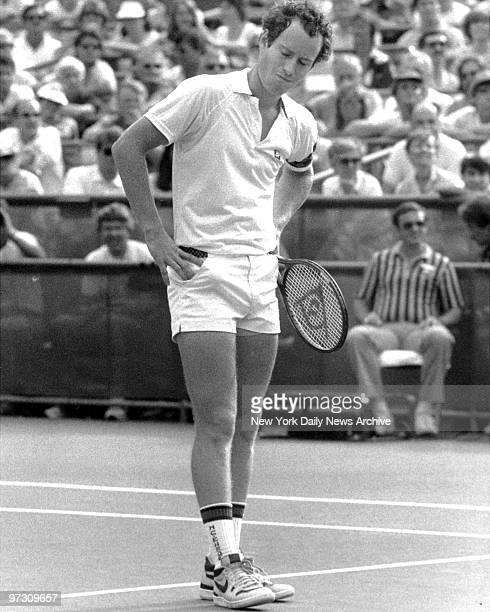 John McEnroe shows his displeasure at US Open Tennis in Flushing