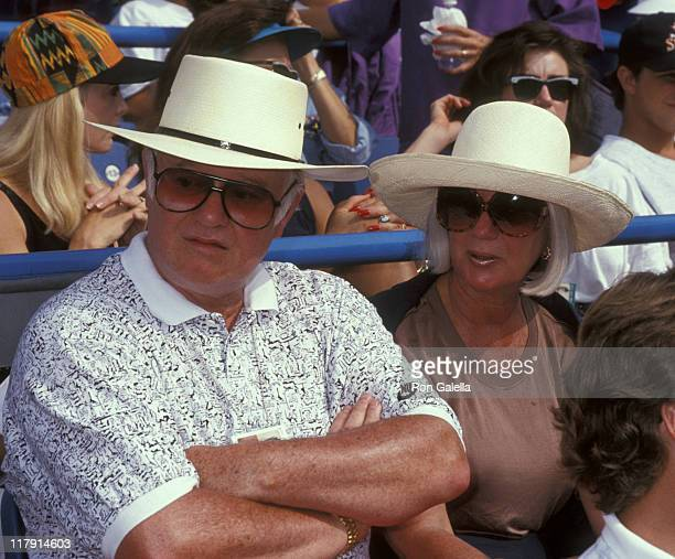 John McEnroe Sr and his wife during 1992 US Open Third Round John McEnroe vs Richard Fromberg at Flushing Meadow in Queens New York United States