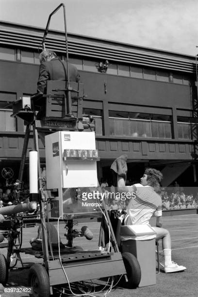 John McEnroe v Tom Gullikson, first round match at Wimbledon on Court Number One, Monday 22nd June 1981. John McEnroe was two flashpoints away from...