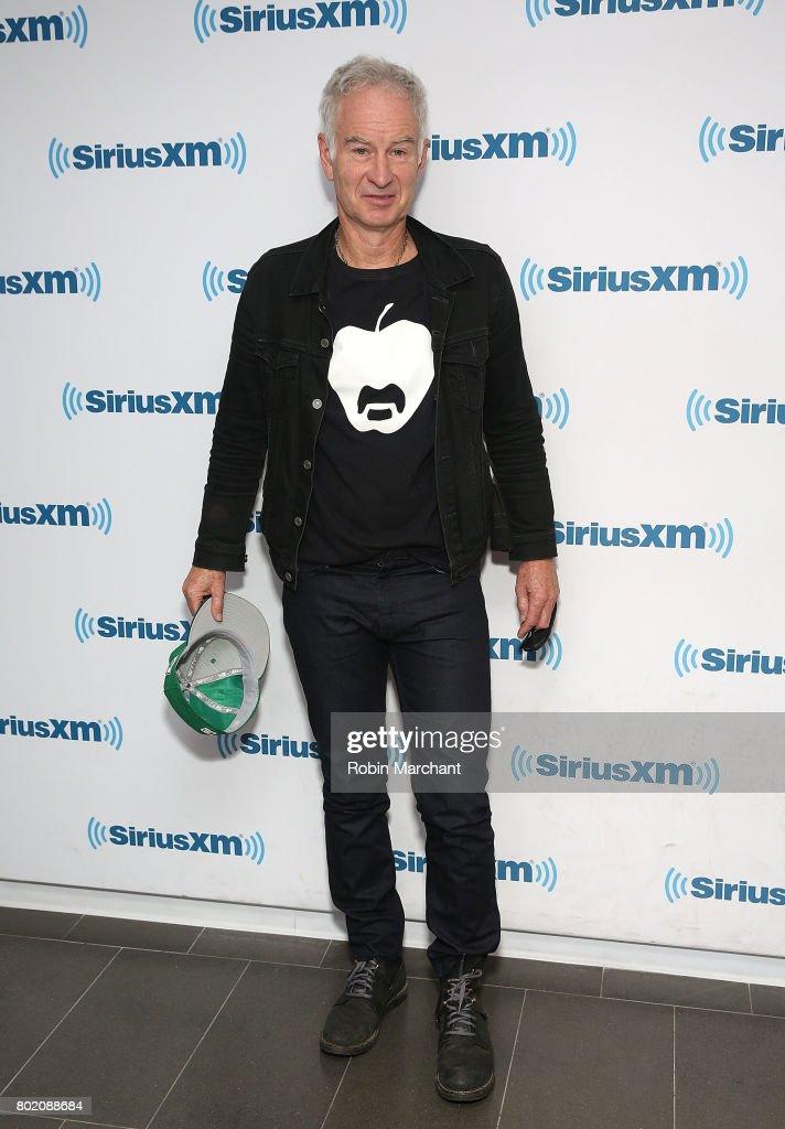 John McEnroe visits at SiriusXM Studios on June 27, 2017 in New York City.