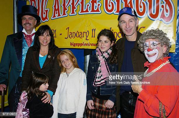 John McEnroe wife Patty Smyth her daughters Anna and Ava and his daughter with Tatum O'Neal Emily get together with emcee Dinny McGuire and Grandma...