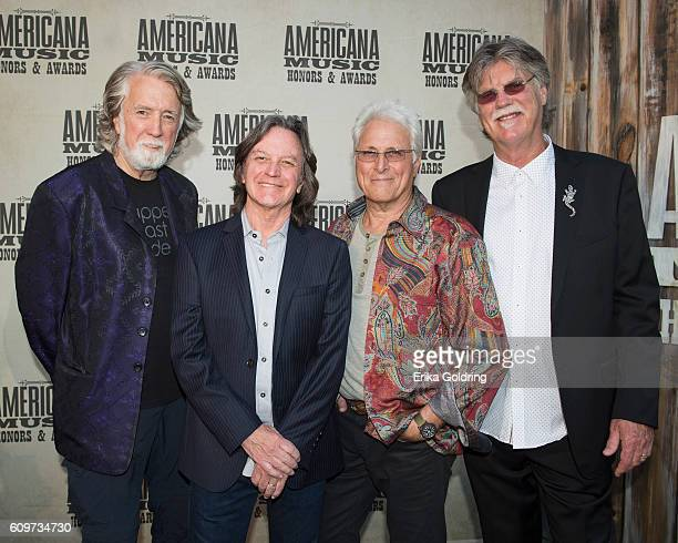 John McEuen Jeff Hanna Jimmie Fadden and Bob Carpenter of Nitty Gritty Dirt Band attend the 2016 Americana Music Honors and Awards Show at Ryman...