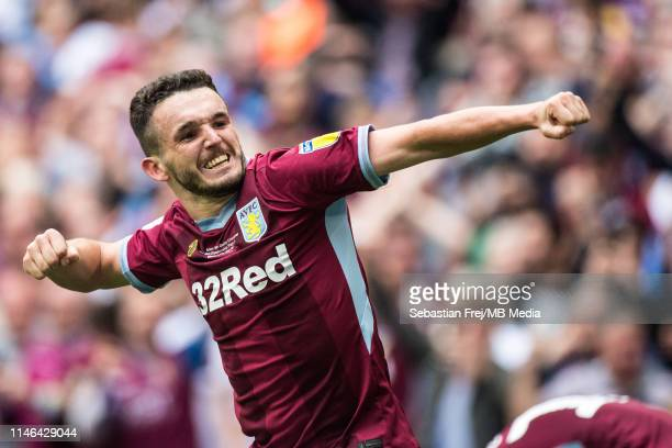 John McGinn of Aston Villa celebrate after scoring goal during the Sky Bet Championship Play-off Final match between Aston Villa and Derby County at...