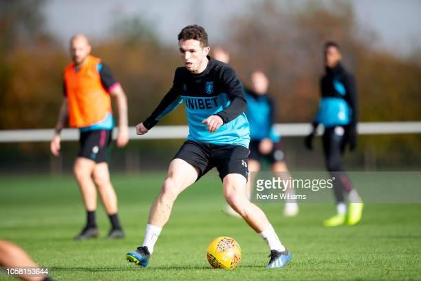 John McGinn of Aston Villa during a training session at the club's training ground at Bodymoor Heath on November 06 2018 in Birmingham England