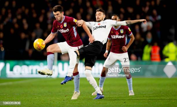 John McGinn of Aston Villa during the Sky Bet Championship match between Derby County and Aston Villa at Pride Park Stadium on November 10 2018 in...