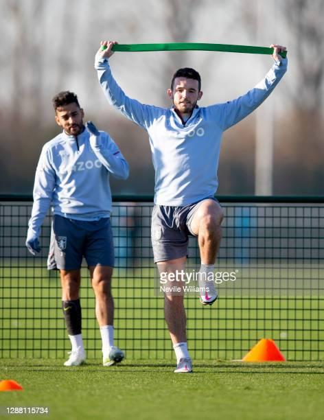 John McGinn of Aston Villa in action during a training session at Bodymoor Heath training ground on November 26 2020 in Birmingham England