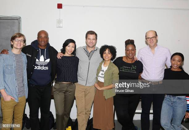 John McGinty Director Kenny Leon Julee Cerda Joshua Jackson Lauren Ridloff Kecia Lewis Anthony Edwards and Threshelle Edmond pose at broadway's...