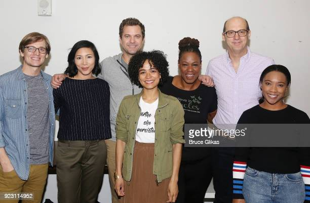 John McGinty Kenny Leon Julee Cerda Joshua Jackson Lauren Ridloff Kecia Lewis Anthony Edwards and Threshelle Edmond pose at broadway's upcoming...