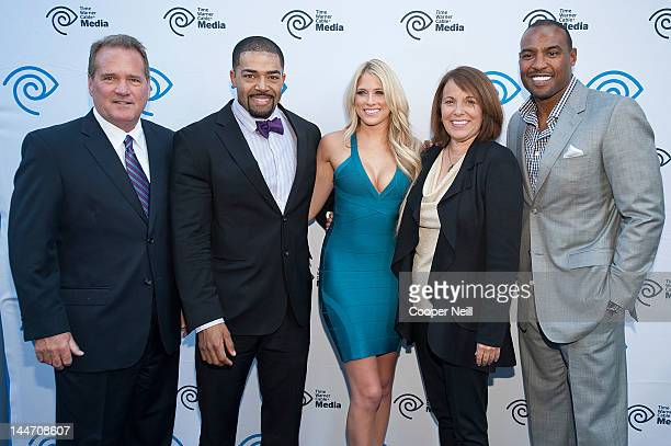 John McKay David Otunga Kelly Kelly Carole Hart and Darren Woodson arrive for the Time Warner Cable Media's Cabletime Upfront event at Private Social...