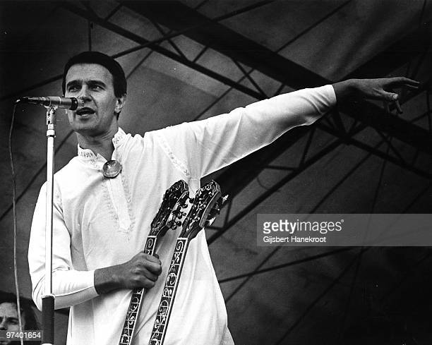 John McLaughlin from The Mahavishnu Orchestra performs live on stage in Amsterdam, Netherlands in 1973