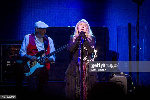 John McVie and Stevie Nicks of Fleetwood Mac perform at the Canadian Tire Centre on October 26 2014 in Ottawa Canada
