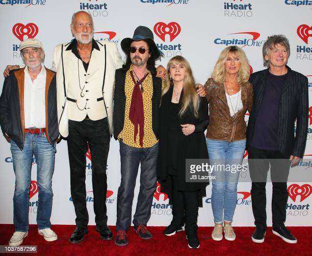 John McVie, Mick Fleetwood, Mike Campbell, Stevie Nicks, Christine McVie and Neil Finn of Fleetwood Mac attend the 2018 iHeartRadio Music Festival at...