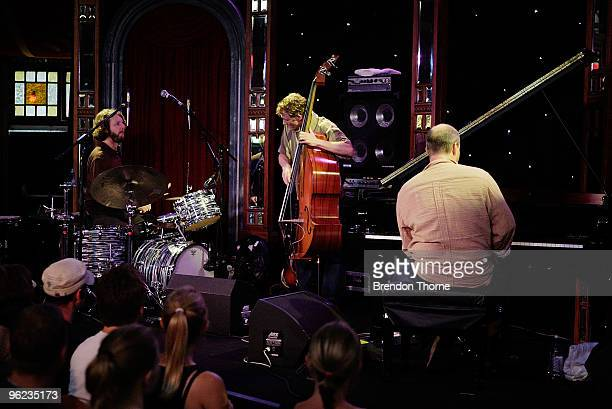 John Medeski Billy Martin and Chris Wood of jazz and groove outfit Medeski Martin Wood make their Australian debut as part of the Sydney Festival...
