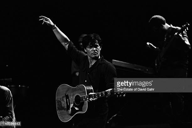 John Mellancamp performs on September 8 2001 at the Jones Beach Theater in Wantagh New York