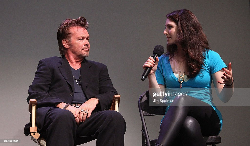 John Mellencamp and actress Kate Ferber attend Meet the Creators at Apple Store Soho on June 3, 2013 in New York City.